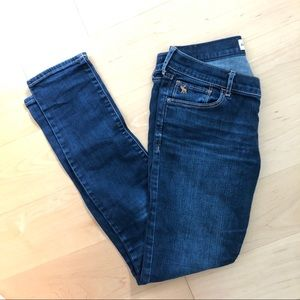 Abercrombie Skinny Dark Wash Low Waisted Jeans